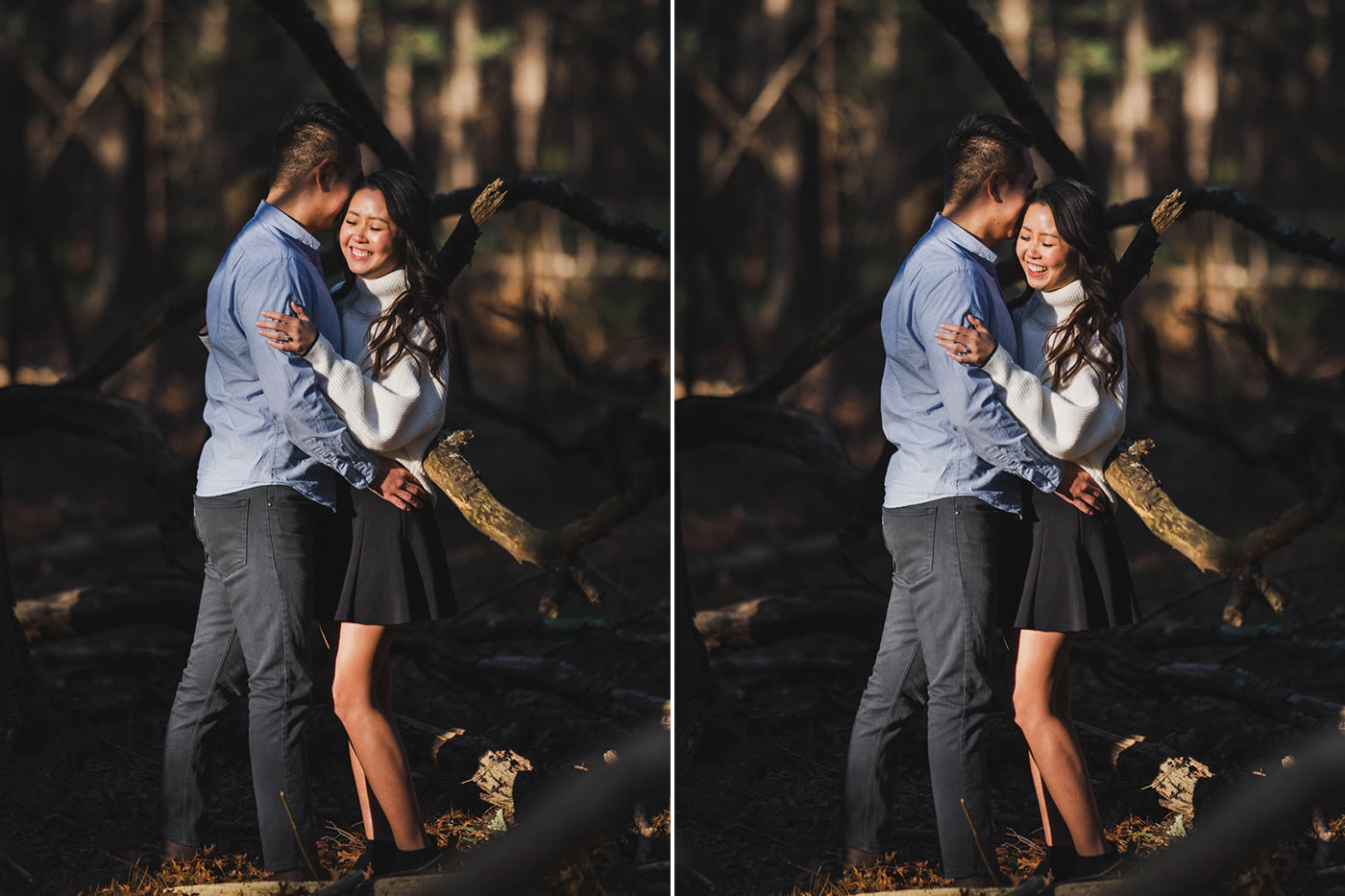 Portraits from an engagement session at Prosser Pines by Weddings by Hanel