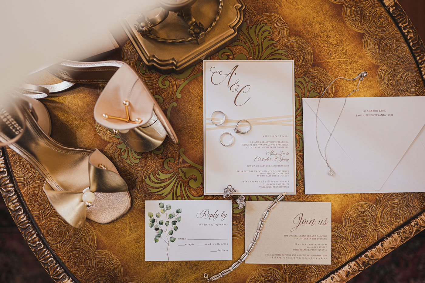 wedding details from a wedding at Saint Thomas of Villanova by Weddings by Hanel