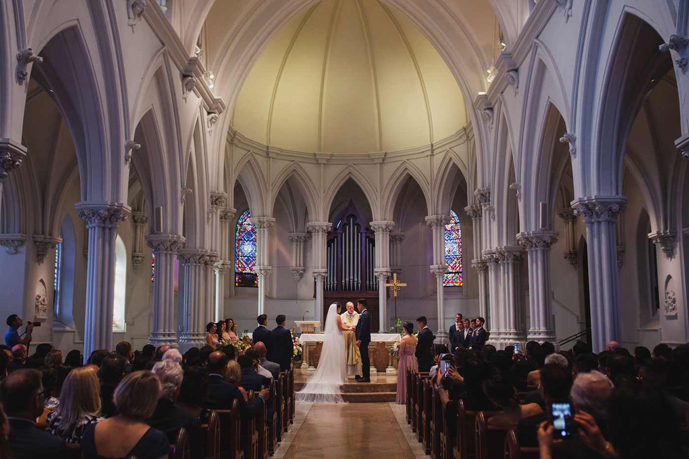 from a wedding at Saint Thomas of Villanova by Weddings by Hanel