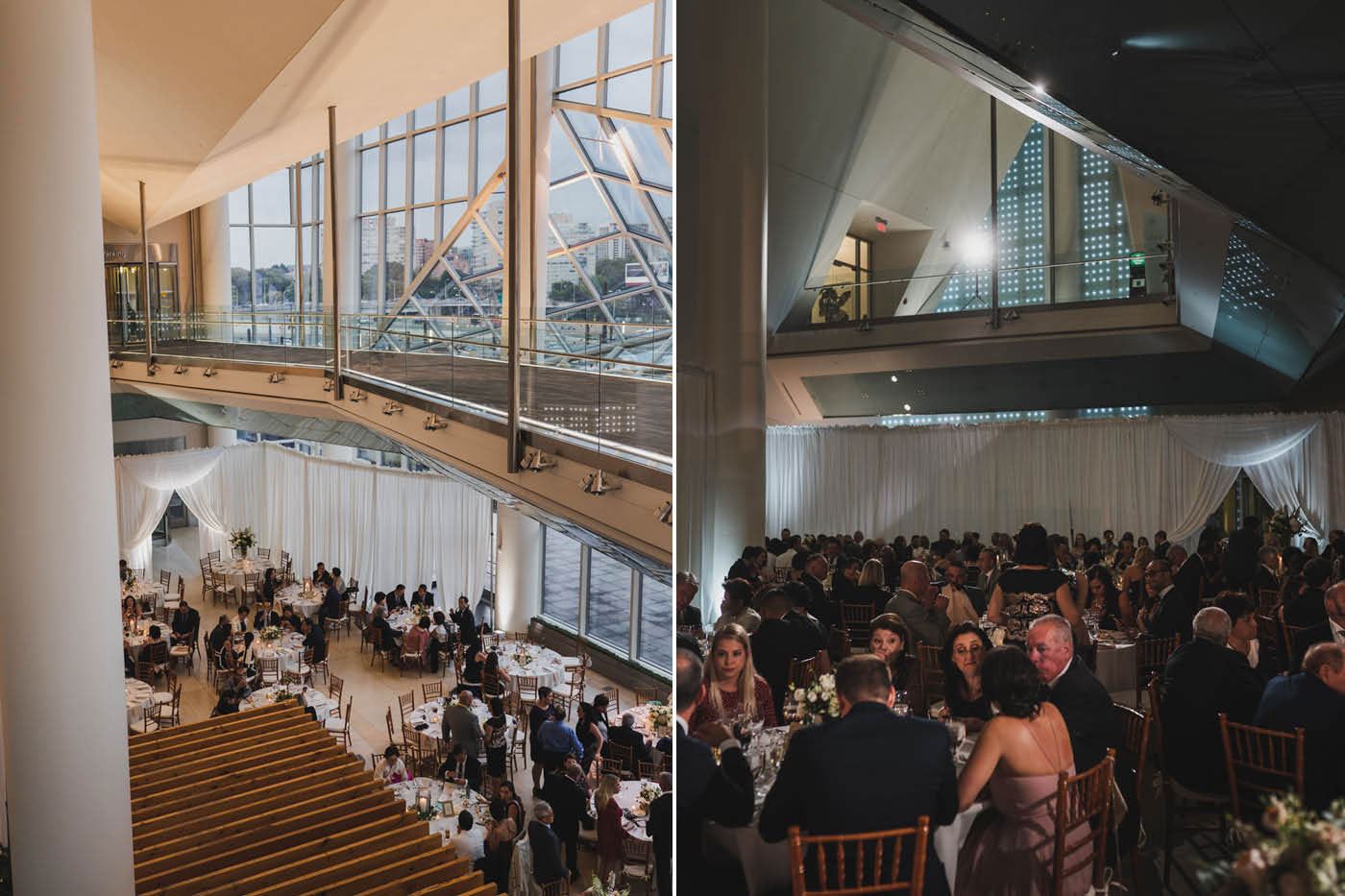 cira centre wedding reception at a wedding at Saint Thomas of Villanova by Weddings by Hanel