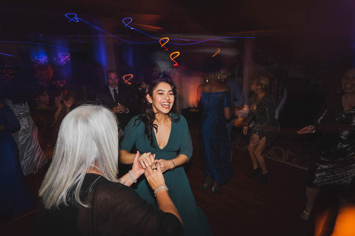 wedding guests dancing at the palace at Somerset park by weddings by H