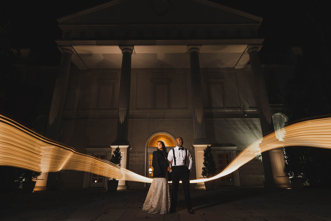epic night shot at the palace at Somerset park by weddings by H