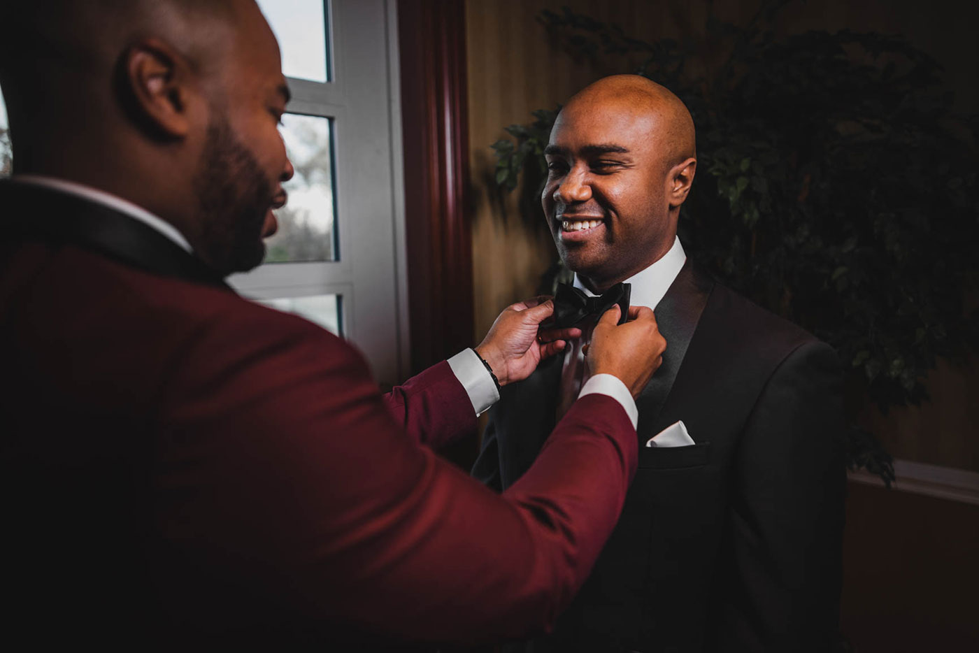groom and best man at the palace at Somerset park by weddings by H