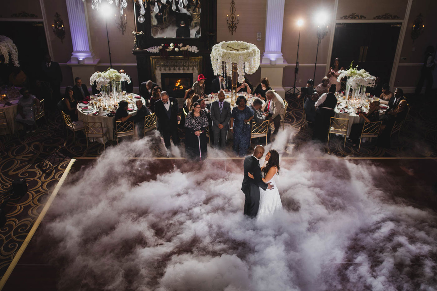 dancing on clouds at the palace at Somerset park by weddings by H