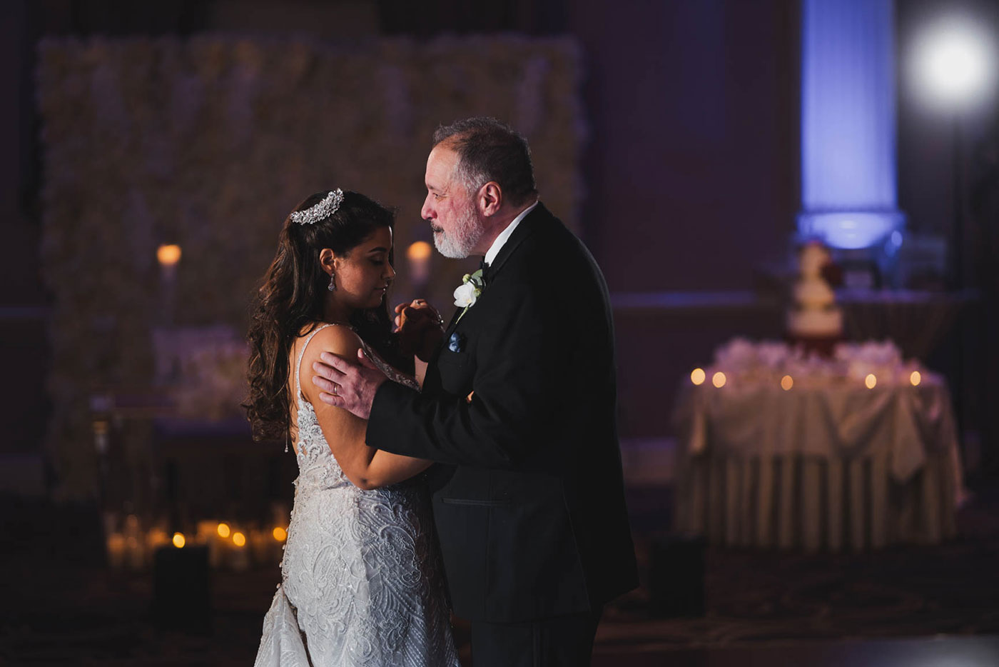 father daughter dance at the palace at Somerset park by weddings by H