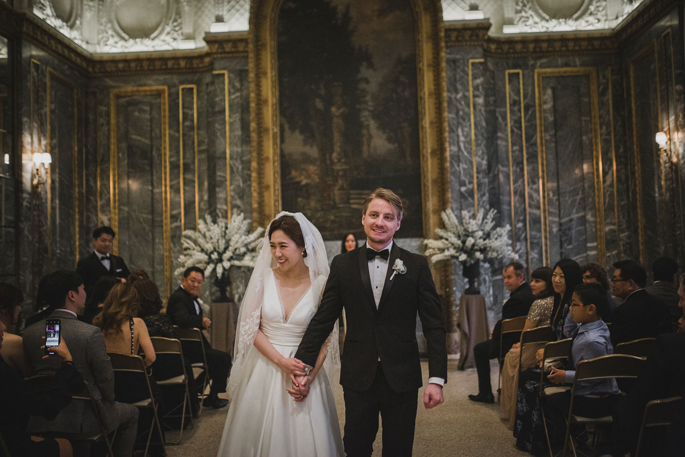 recessional at the James Burden Kahn Mansion by Weddings by Hanel