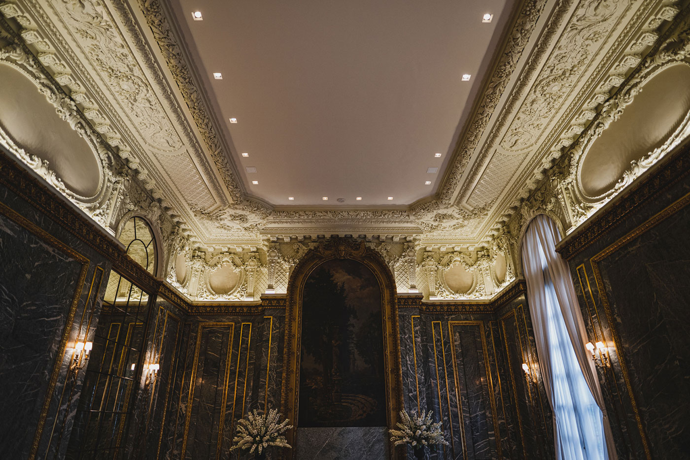 Ceremony Room at the James Burden Kahn Mansion by Weddings by Hanel