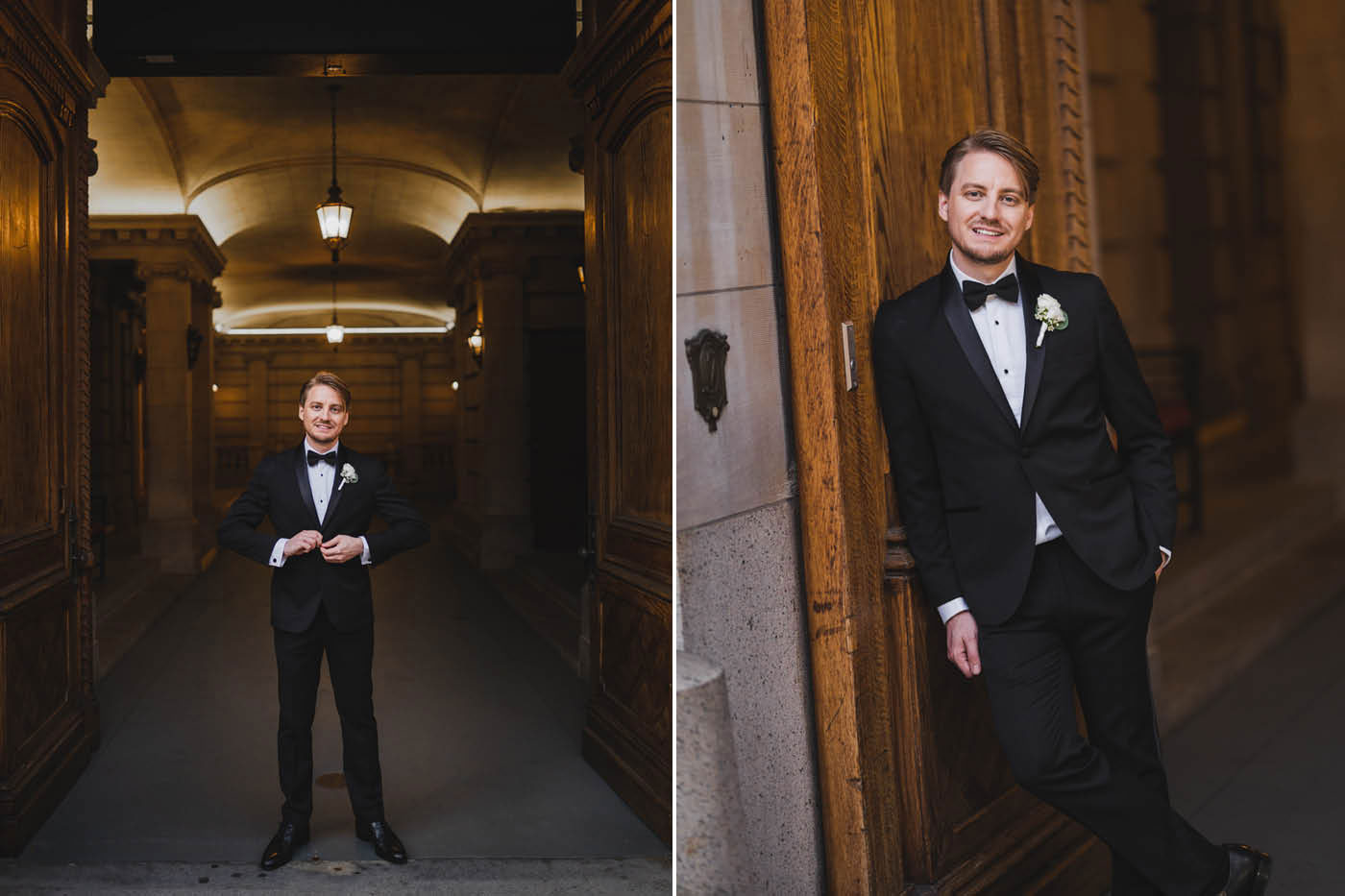 groom portraits at the James Burden Kahn Mansion by Weddings by Hanel