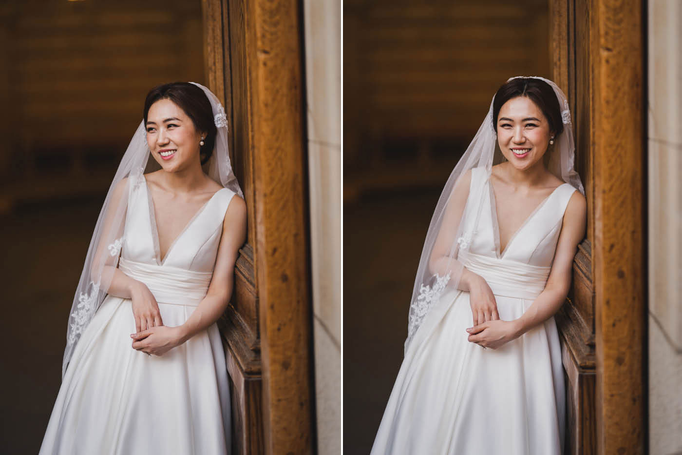 bride portraits at the James Burden Kahn Mansion by Weddings by Hanel