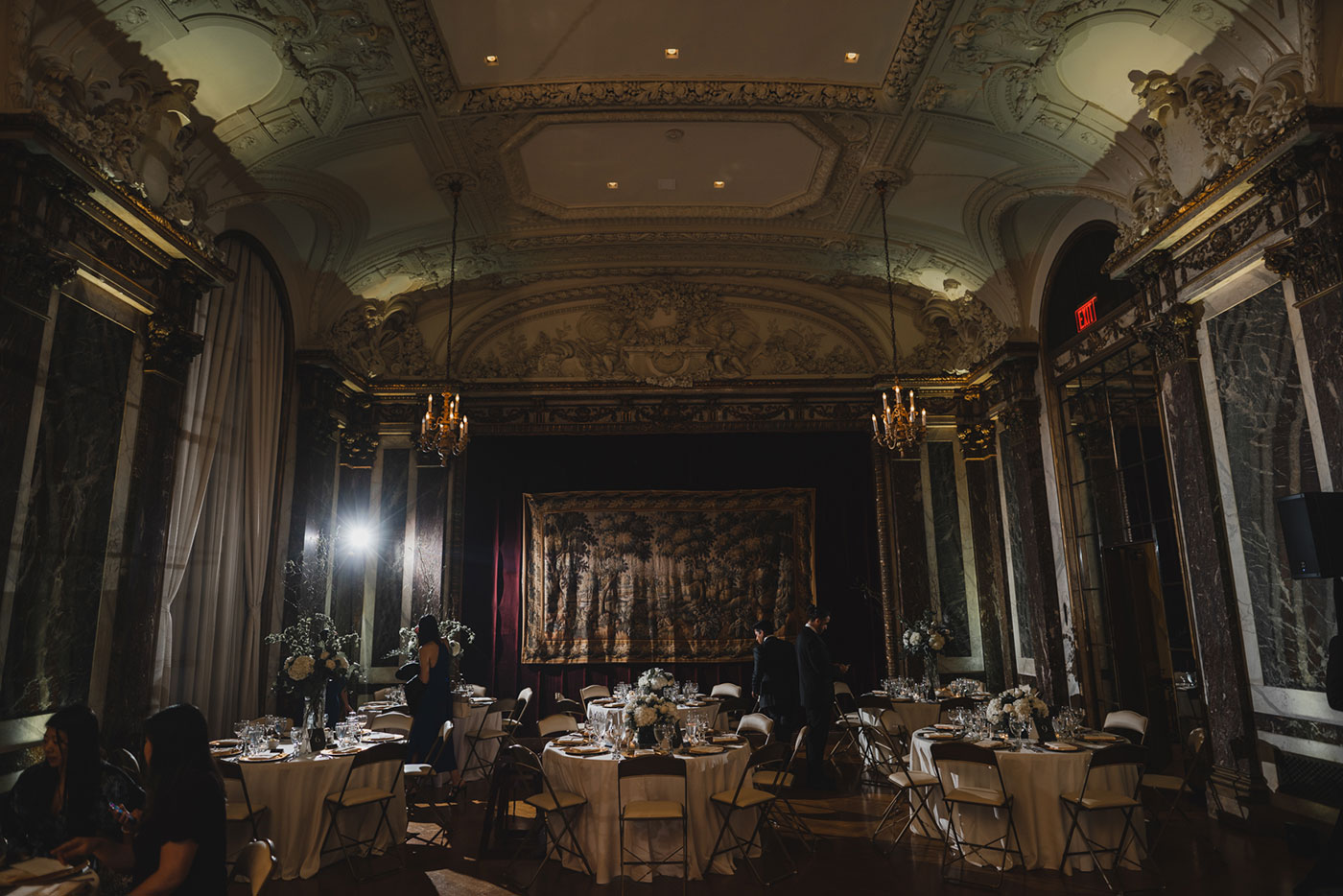 reception room at the James Burden Kahn Mansion by Weddings by Hanel
