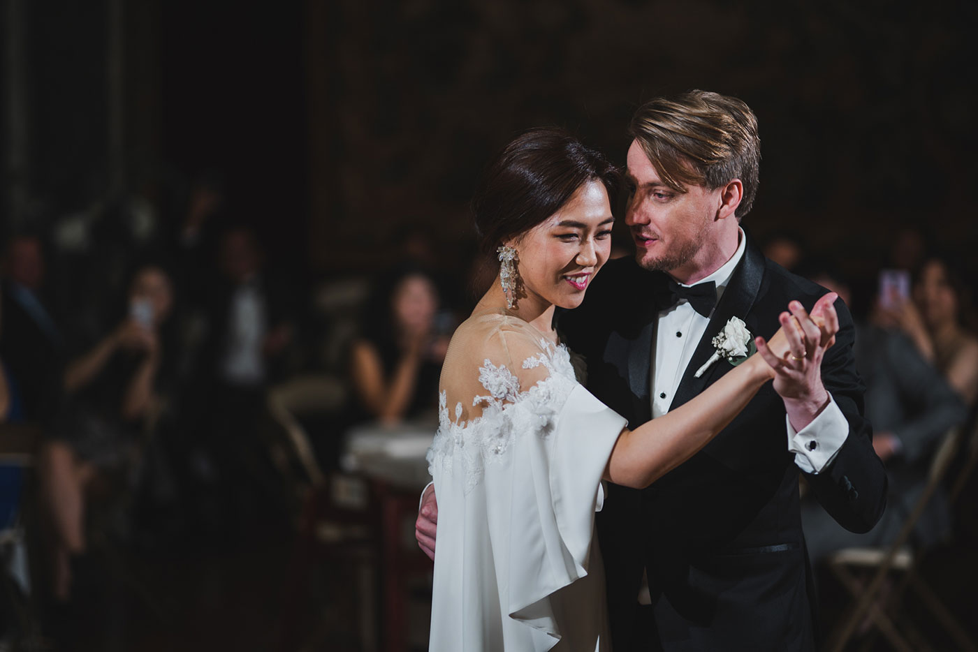first dance at the James Burden Kahn Mansion by Weddings by Hanel