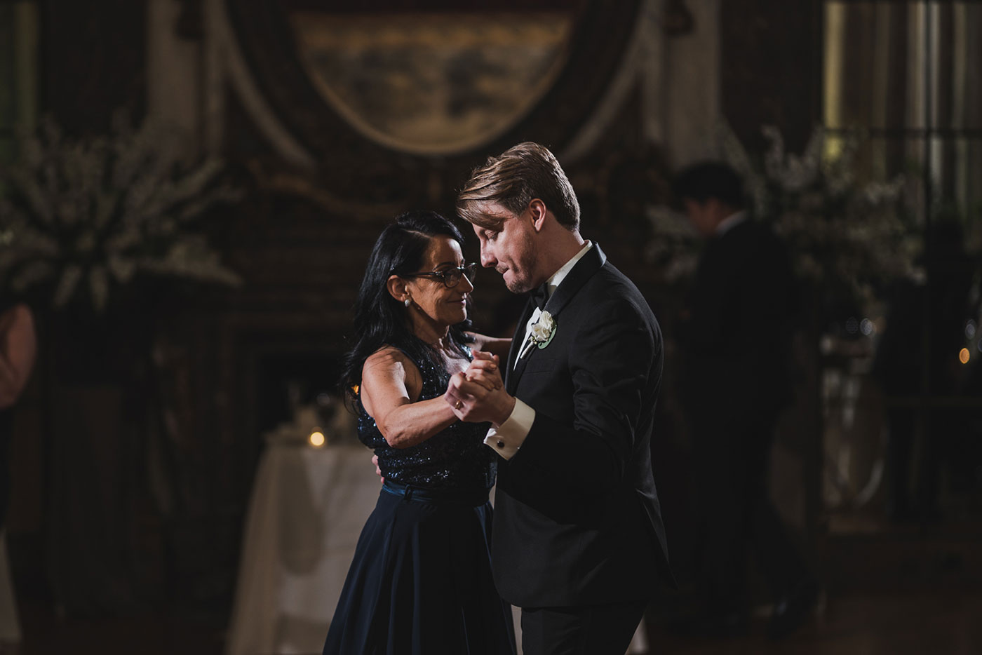 mother son dance at the James Burden Kahn Mansion by Weddings by Hanel