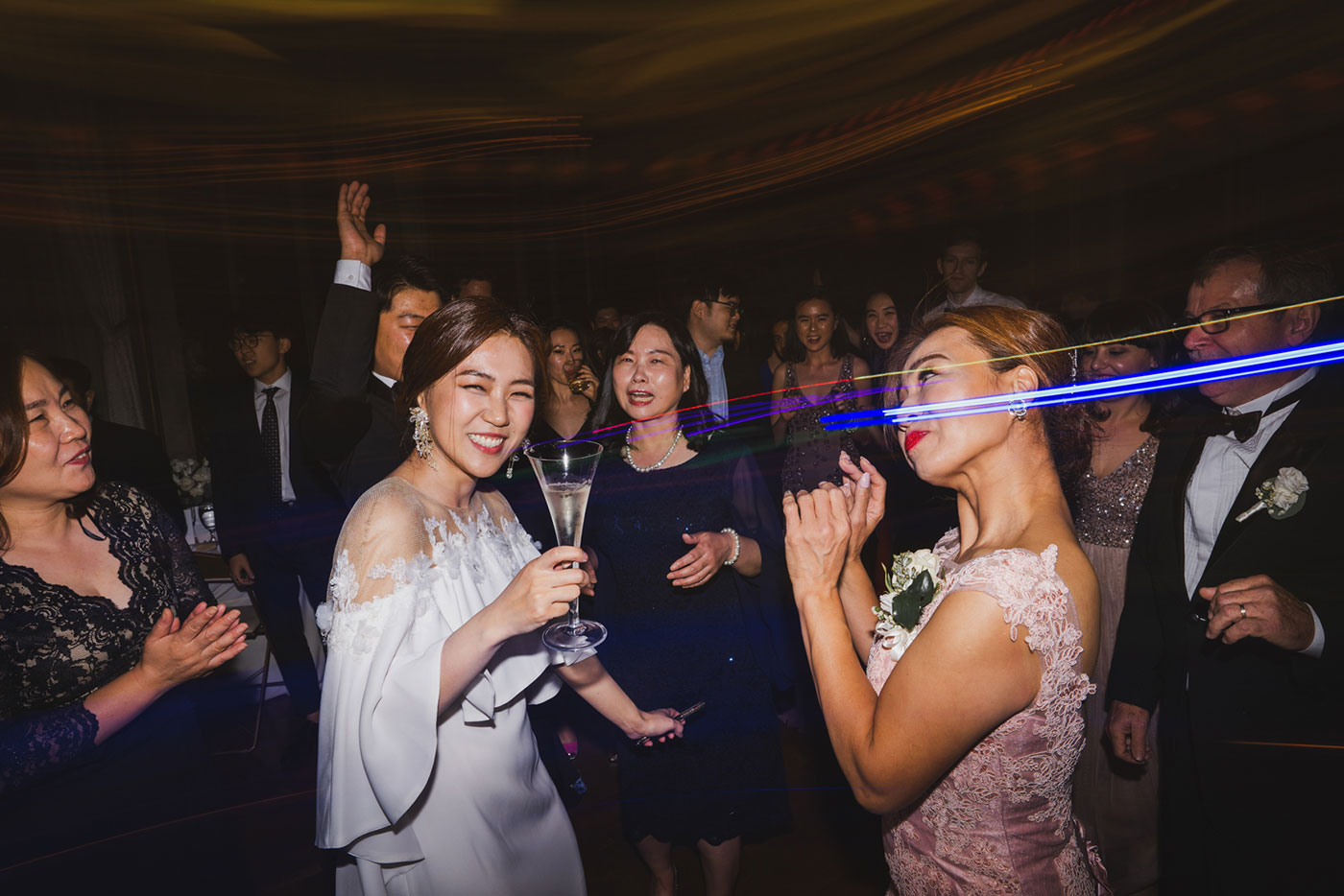 reception dance party at the James Burden Kahn Mansion by Weddings by Hanel