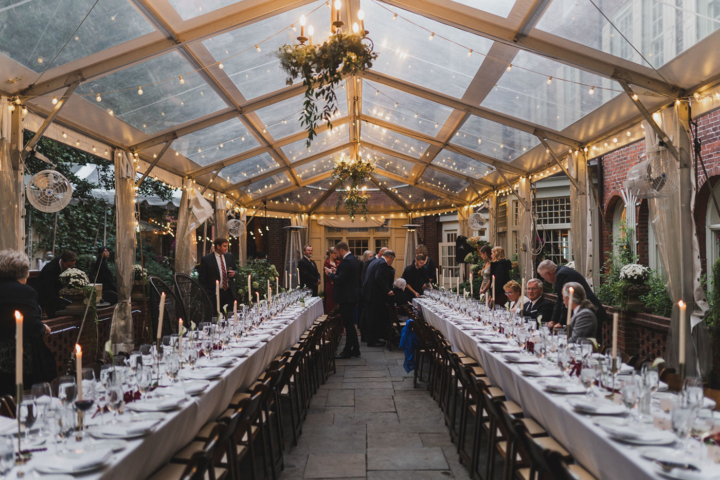 reception setting at the Morris House Hotel by Weddings by Hanel