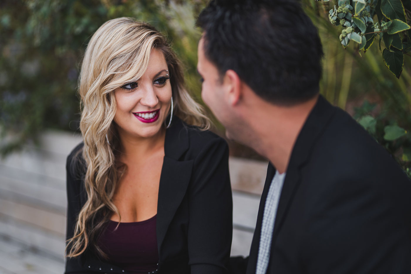Kristina and Steven's engagement session at the Brooklyn Bridge Park by Weddings by Hanel