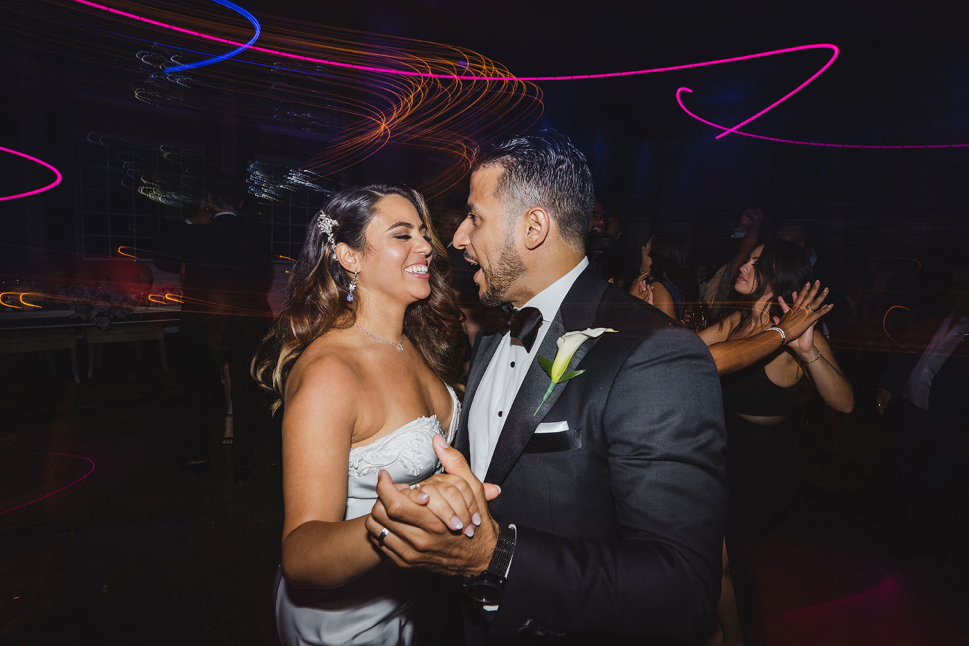 bride and groom dancing at the Estate at Florentine Gardens by Weddings by Hanel