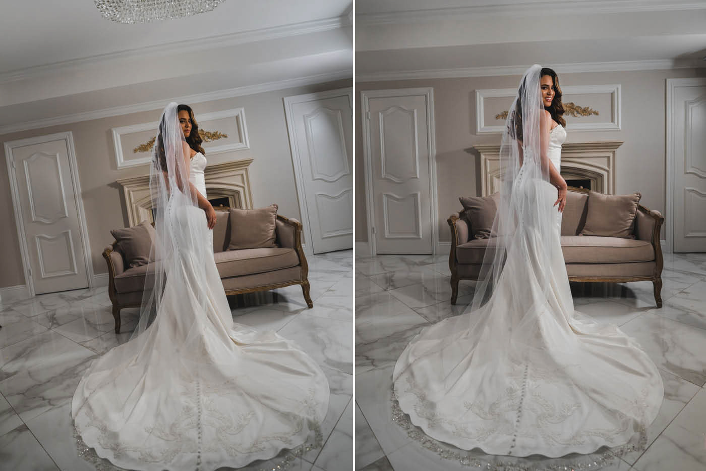 portraits of bride at the Estate at Florentine Gardens by Weddings by Hanel