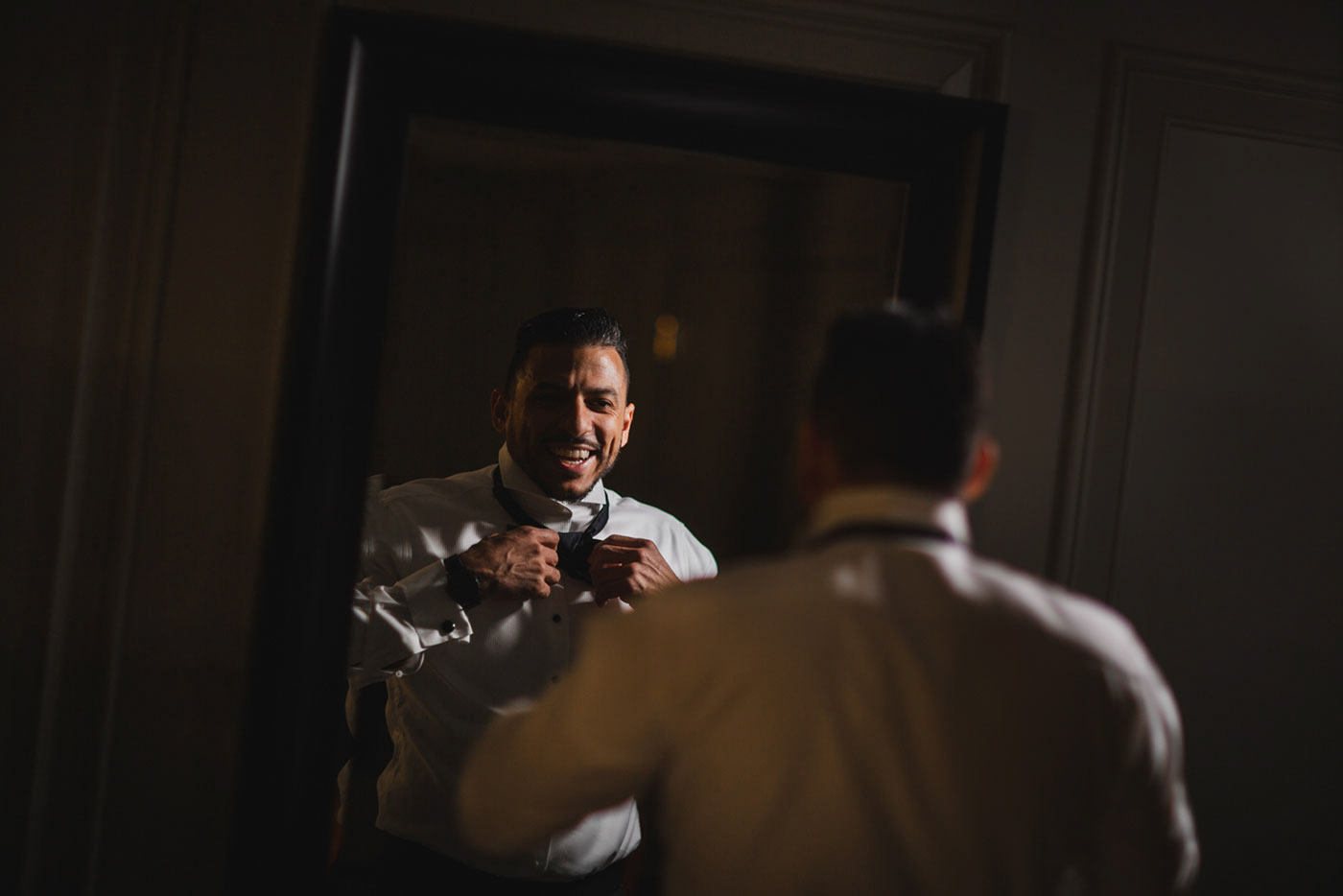 groom getting ready at the Estate at Florentine Gardens by Weddings by Hanel
