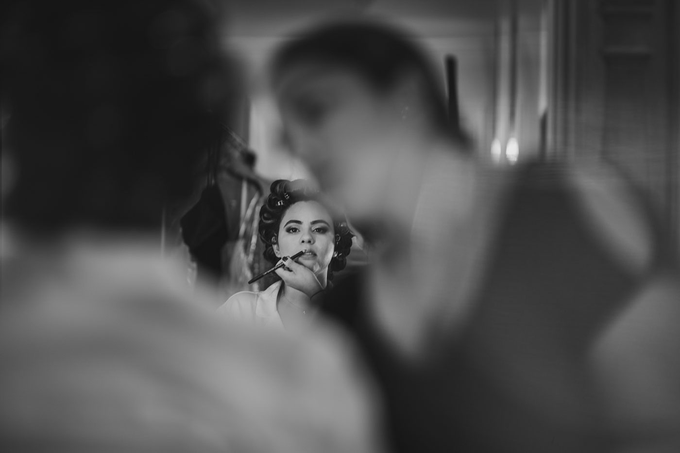 bride getting ready at the Estate at Florentine Gardens by Weddings by Hanel