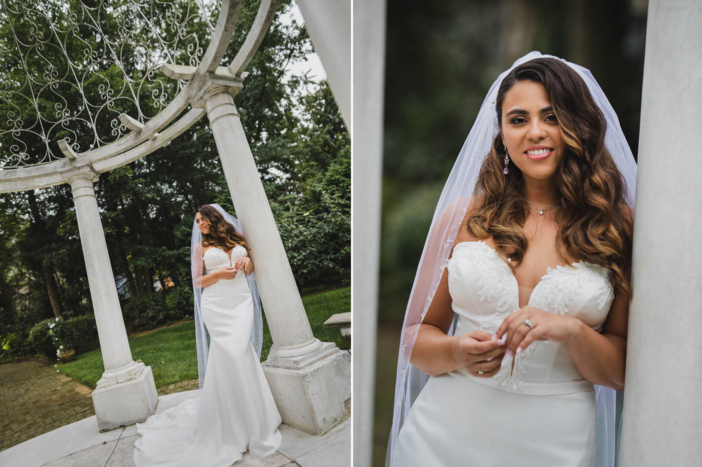 bridal portraits at the Estate at Florentine Gardens by Weddings by Hanel