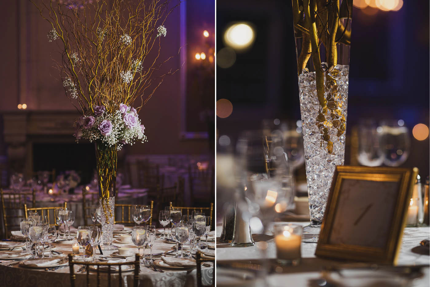 wedding decor at the Estate at Florentine Gardens by Weddings by Hanel