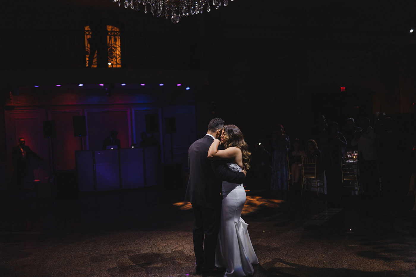 couple's first dance at the Estate at Florentine Gardens by Weddings by Hanel