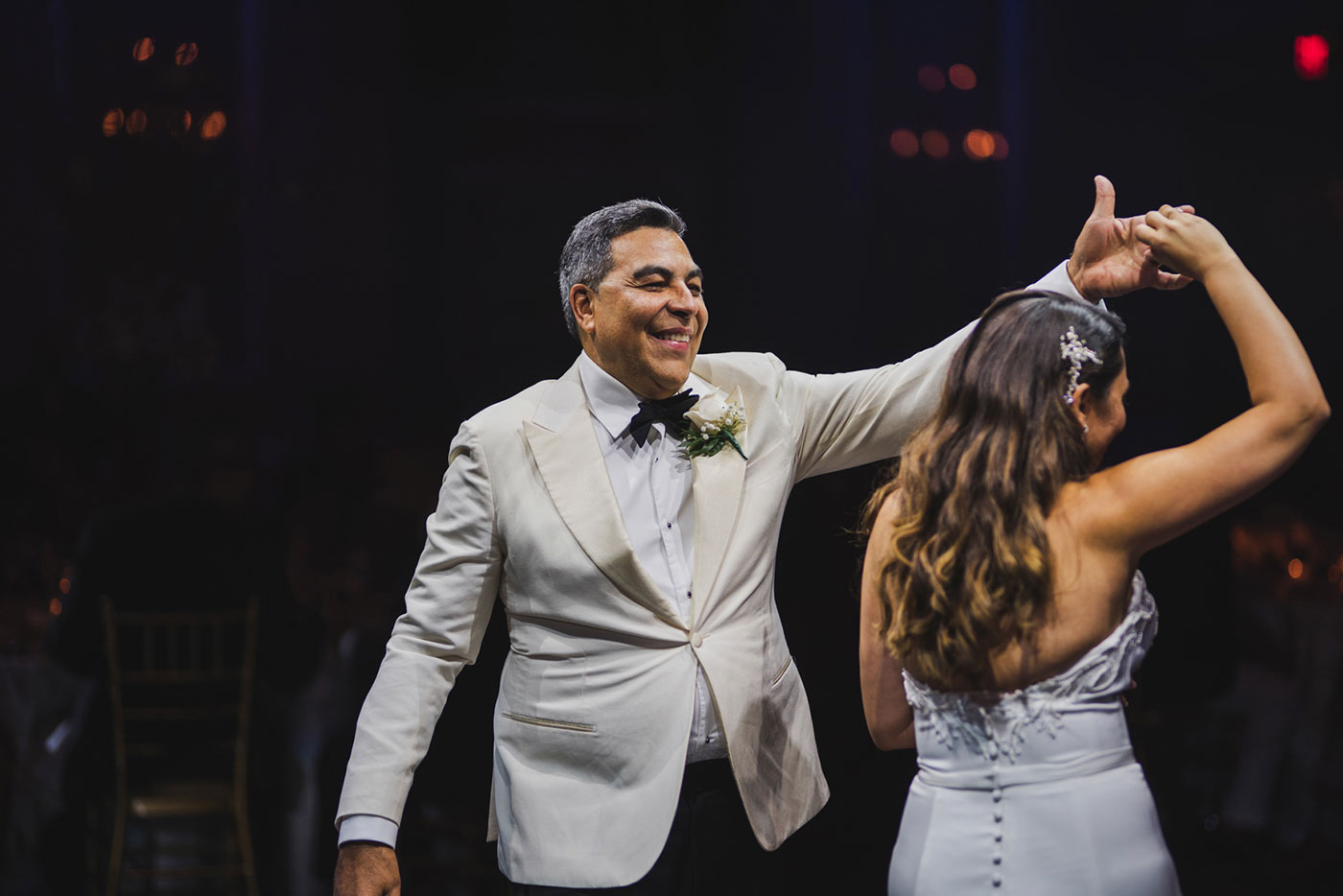 father daughter dance at the Estate at Florentine Gardens by Weddings by Hanel