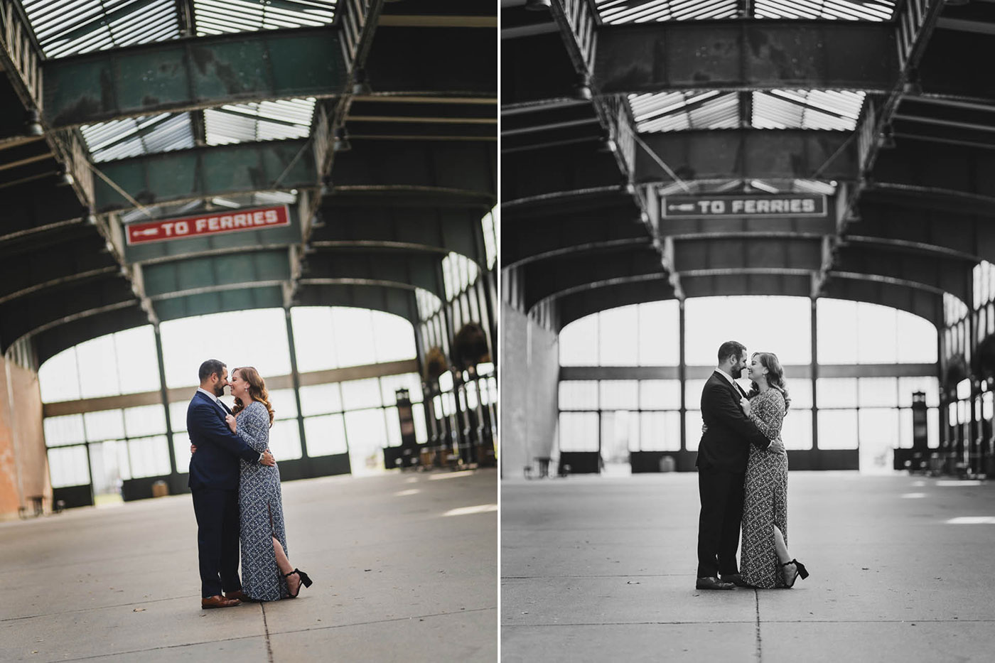 Engagement Session photos at the Liberty State Park in Jersey City by Weddings by Hanel