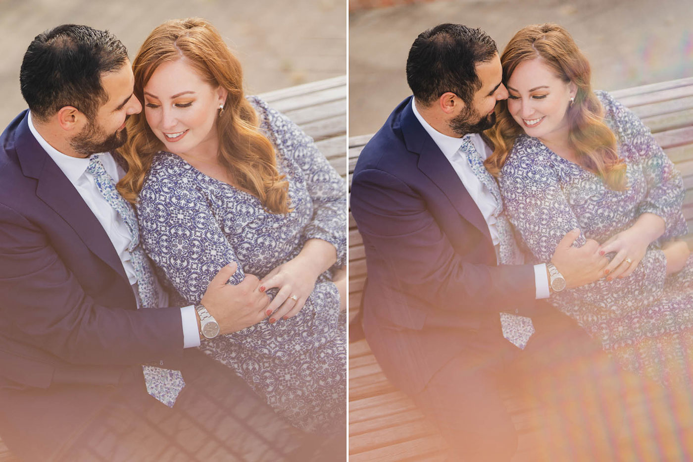 Liberty State Park engagement session by Weddings by Hanel