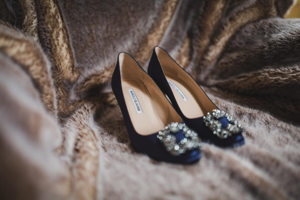 manolo blahnik wedding shoes detail shot by hanel